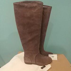 109df839086 🆕 UGG Gracen Suede block heel riding boots NWT